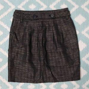 Ann Taylor sz 0P Pencil Skirt Black White